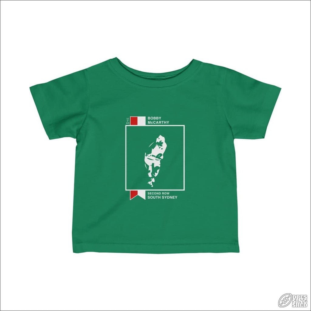 Rugby League T-shirt Infant Souths Footy Card Kelly / 12M Kids clothes