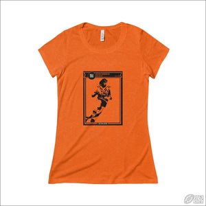 Rugby League T-shirt Ladies Balmain Footy Card Orange TriBlend / S T-shirt - Womens