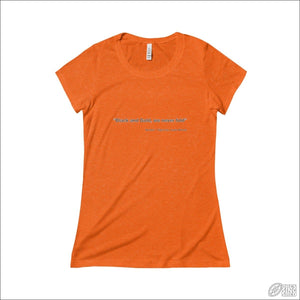 Rugby League T-shirt Ladies Balmain Quote Orange TriBlend / S T-shirt - Womens