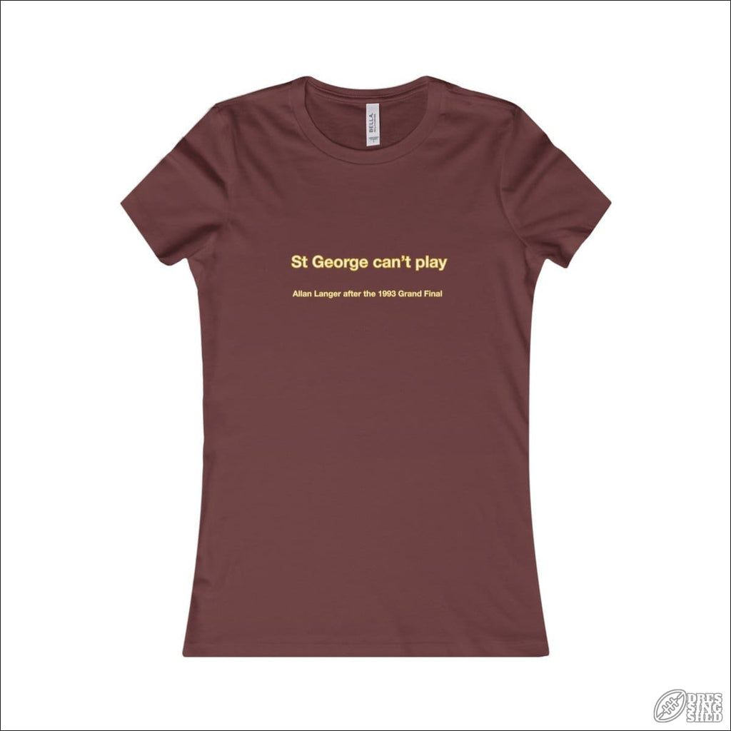 Rugby League T-shirt Ladies Brisbane Quote Maroon / S T-shirt - Womens