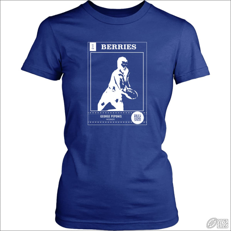 Rugby League T-shirt Ladies Canterbury Footy Card District Womens Shirt / Royal Blue / XS T-shirt - Womens