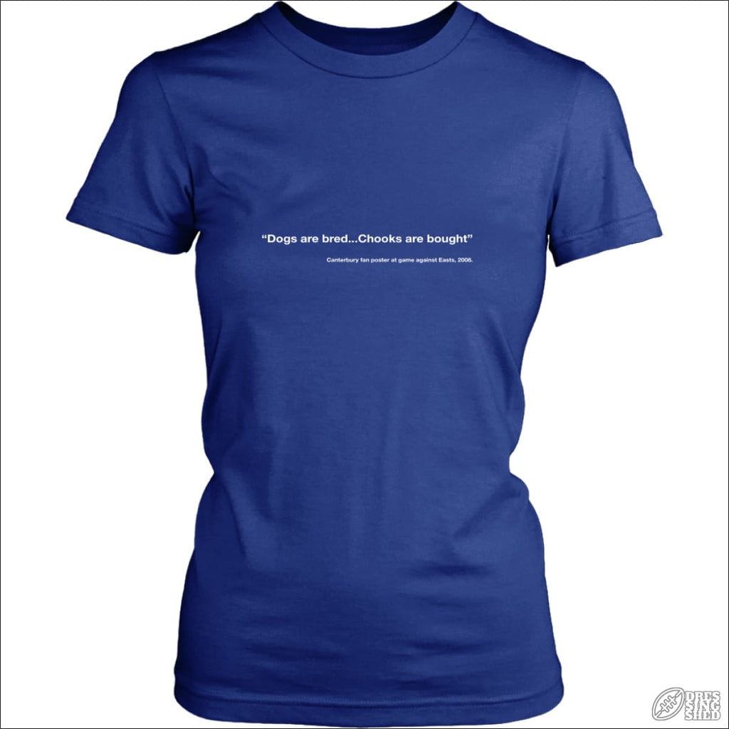 Rugby League T-shirt Ladies Canterbury Quote District Womens Shirt / Royal Blue / XS T-shirt - Womens