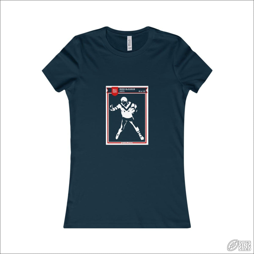 Rugby League T-shirt Ladies Easts Footy Card Navy / S T-shirt - Womens