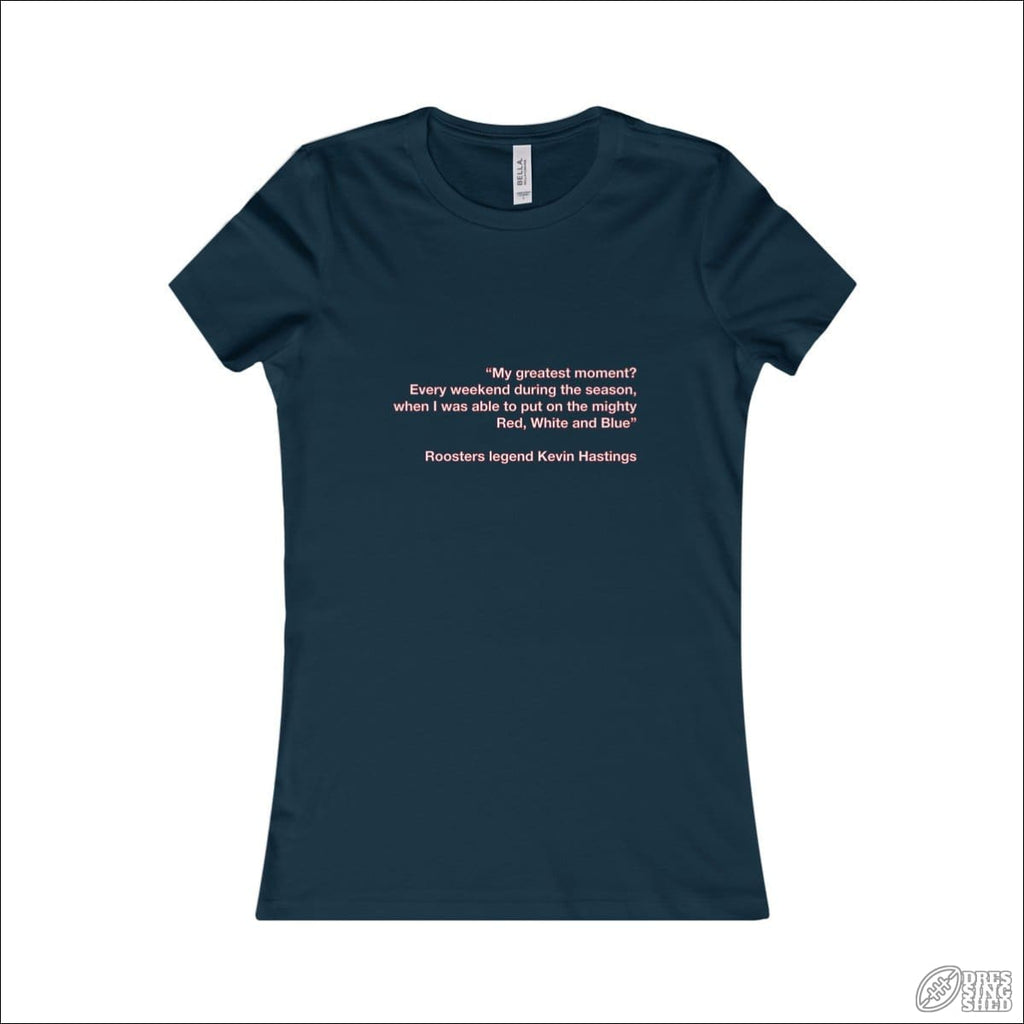 Rugby League T-shirt Ladies Easts Quote Navy / S T-shirt - Womens