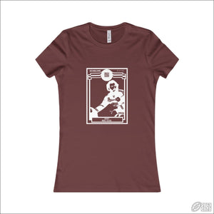 Rugby League T-shirt Ladies Manly Footy Card Maroon / S T-shirt - Womens