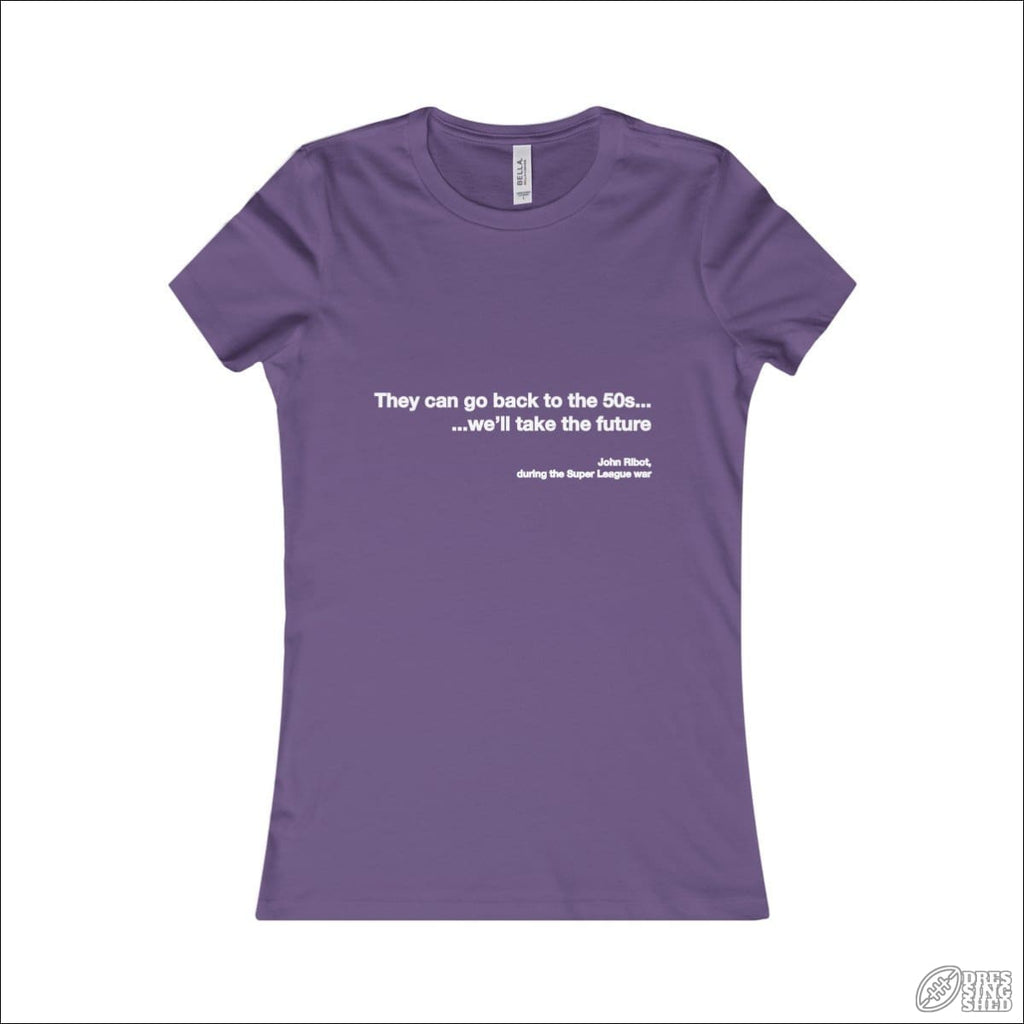 Rugby League T-shirt Ladies Melbourne Quote Purple / S T-shirt - Womens