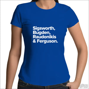 Rugby League T-shirt Ladies Newtown Legends Royal Blue / Womens 8 / XS T-shirt - Womens