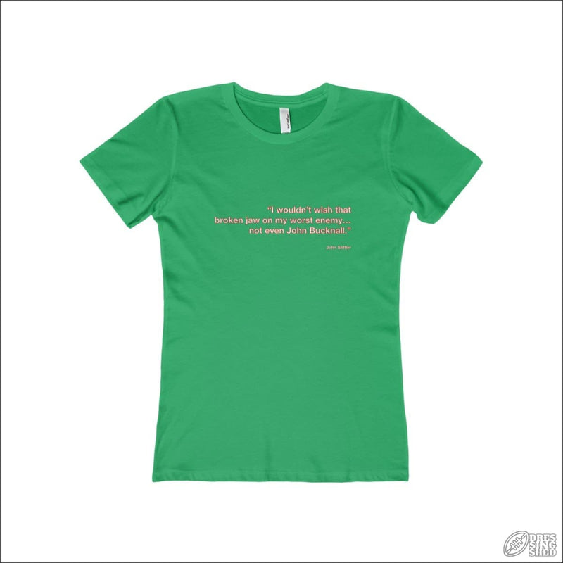 Rugby League T-shirt Ladies Souths Quote Solid Kelly Green / S T-shirt - Womens