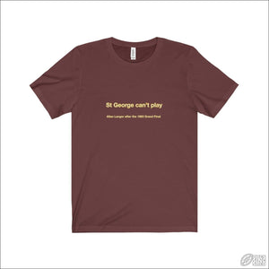 Rugby League T-shirt Mens Brisbane Quote Maroon / S T-shirt - Mens