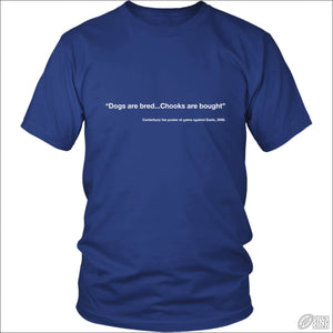 Rugby League T-shirt Mens Canterbury Quote District Unisex Shirt / Royal Blue / S T-shirt - Mens