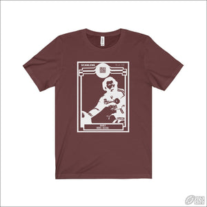Rugby League T-shirt Mens Manly Footy Card Maroon / S T-shirt - Mens