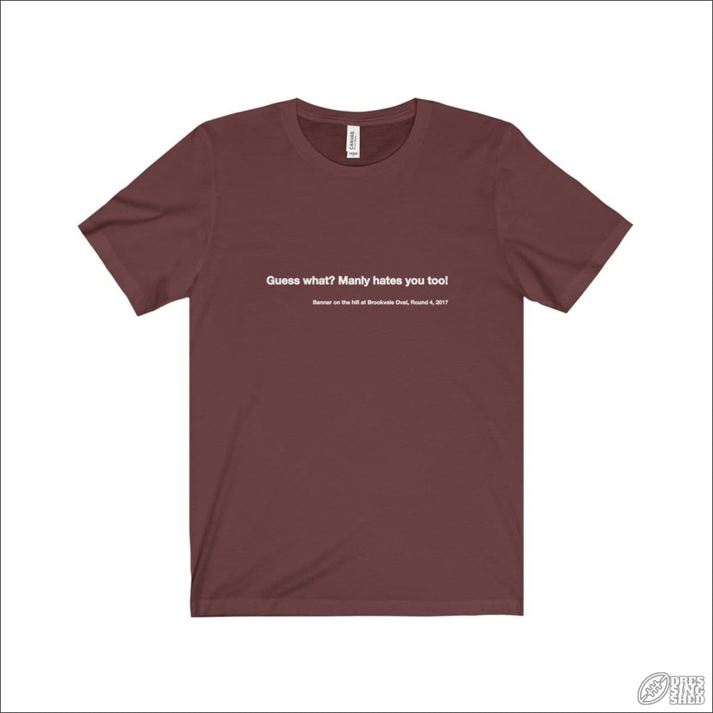 Rugby League T-shirt Mens Manly Quote Maroon / S T-shirt - Mens