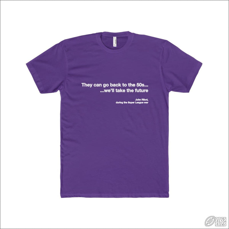 Rugby League T-shirt Mens Melbourne Quote Solid Purple Rush / S T-shirt - Mens
