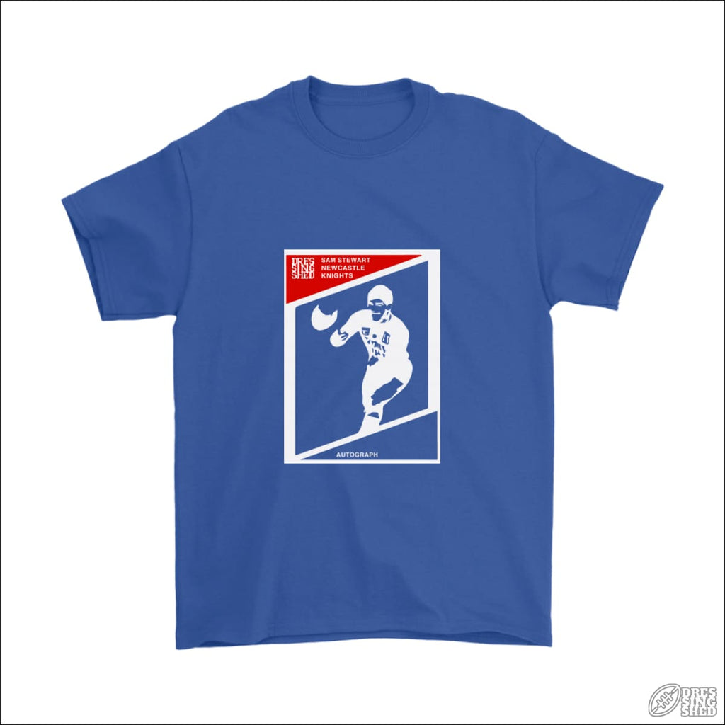 Rugby League T-shirt Mens Newcastle Footy Card Gildan Mens T-Shirt / Royal Blue / S T-shirt - Mens
