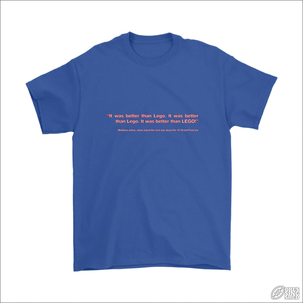 Rugby League T-shirt Mens Newcastle Quote Gildan Mens T-Shirt / Royal Blue / S T-shirt - Mens