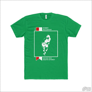 Rugby League T-shirt Mens Souths Footy Card Solid Kelly Green / XS T-shirt - Mens