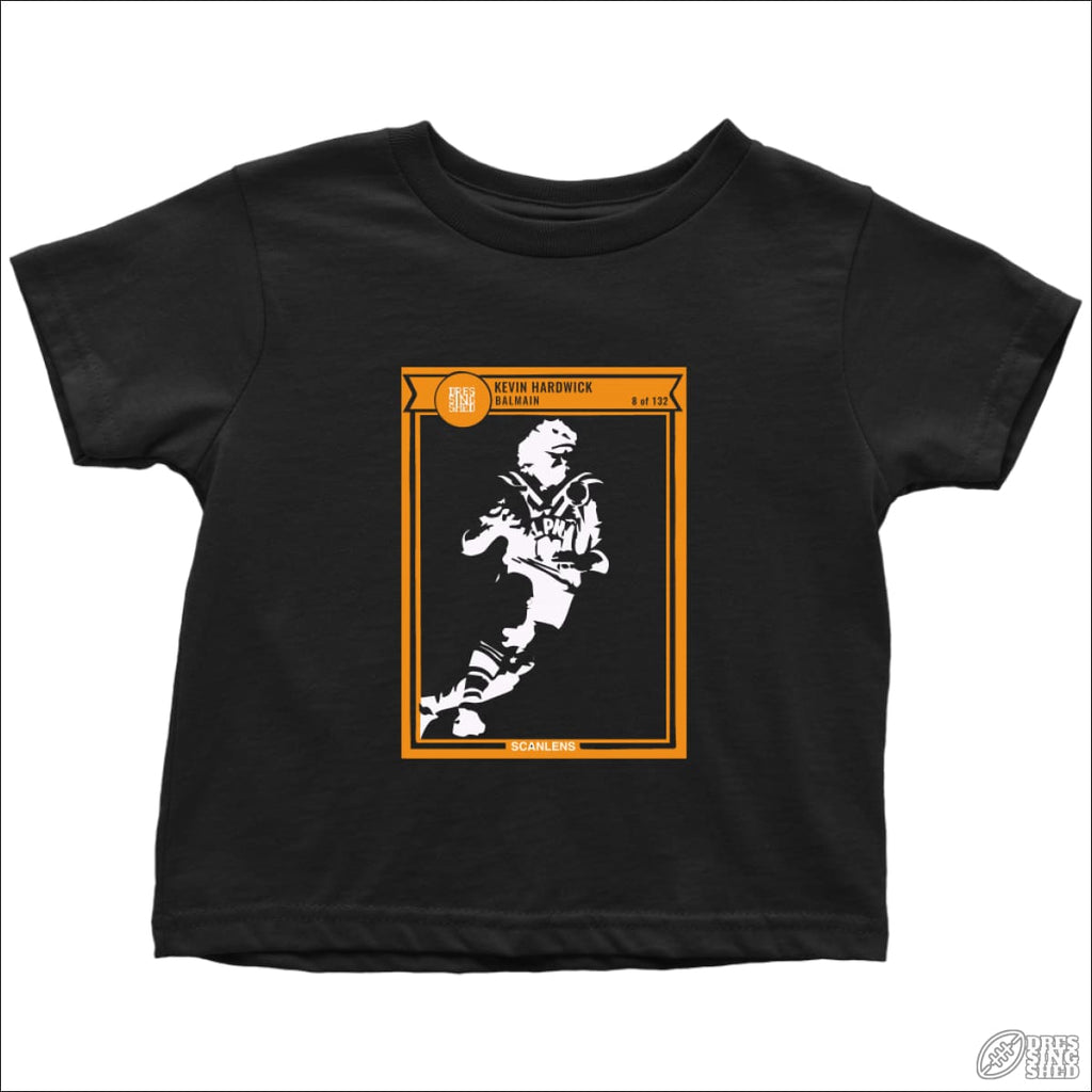 Rugby League T-shirt Toddler Balmain Footy Card Toddler T-Shirt / Black / 2T Kids clothes
