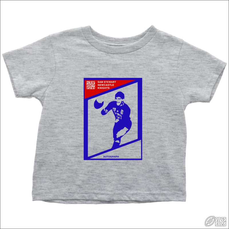 Rugby League T-shirt Toddler Newcastle Footy Card Toddler T-Shirt / Heather Grey / 2T Kids clothes