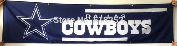 Dallas Cowboys Banner 2x8FT 60x240CM NFL Flag