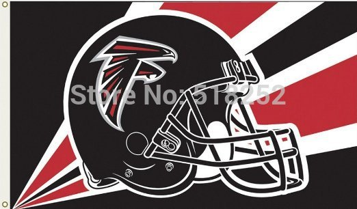 Atlanta Falcons Helmet Flag 3x5 FT  Banner