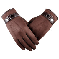 Hot Selling Warm Leather Gloves Top Quality Touch Screen Gloves Men Fashion Casual Cycling Gloves Autumn Winter Style