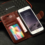 PU Leather Case For iPhone 6 6S Phone Bag Cases Wallet Crad Slots Stand Flip For iPhone 6 6S Cover Case Photo Frame Luxury Coque