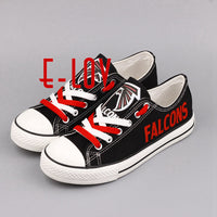 High Quality NFL Atlanta Falcons Football Team Print Casual Shoes Black Red White Logo Cavans Shoes Custom Any Styles Teams