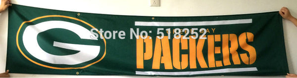 Green Bay Packers Banner 2x8FT 60x240CM NFL Flag
