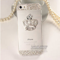 New Arrival Bling DIY  Queen's Crown Cover Case Luxury Crystal Dimond Phone Case For Apple Iphone 5 5s PT2186