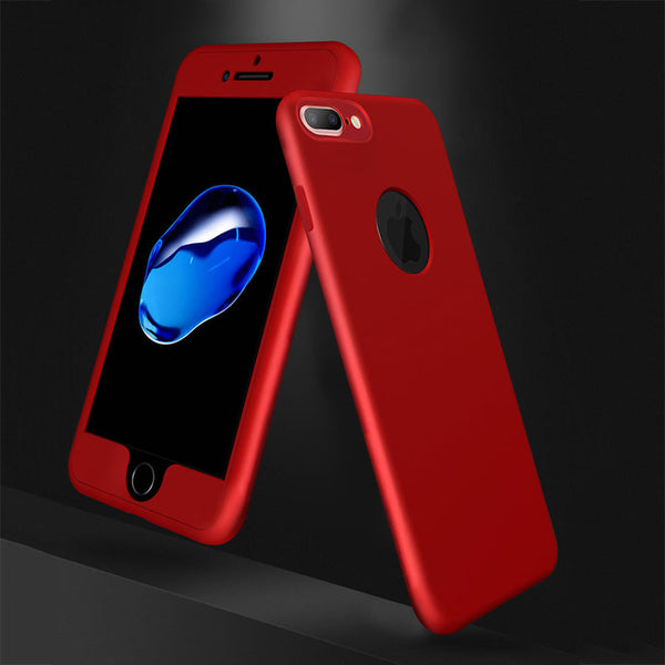 Phone Cases For Apple iphone 7 6 6s Plus Cover Flexible Ultra thin 360 Degree Full Body Coverage Hard PC Front Soft TPU Cover