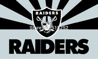 Oakland Raiders with new style Flag  3x5 FT 150X90CM NFL Banner 100D Polyester Custom flag grommets