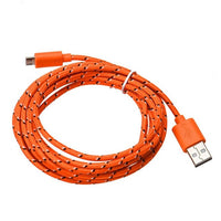 Adroit 3M Data Cable10FT Fabric Rope Micro USB Sync Charger Cord