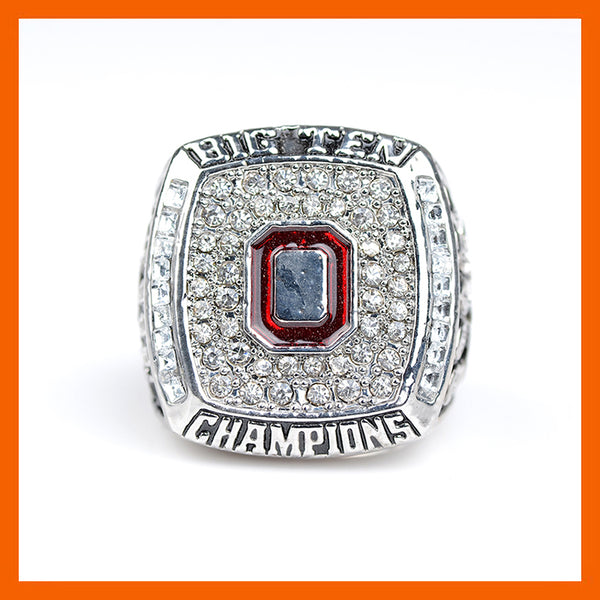 NEW 2009 OHIO STATE BUCKEYES MEN'S FOOTBALL BIG TEN CHAMPIONSHIP RING US SIZE 11