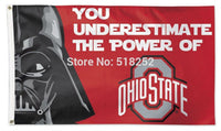 Ohio State Buckeyes Star Wars Flag  3x5 FT NCAA 150X90CM NFL Banner 100D Polyester Custom flag grommets 6038,free shipping