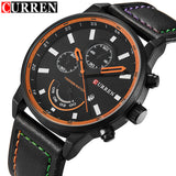 Top Luxury Brand CURREN Men Sport Quartz Waches Men's Leather Strap Date Clock Male Casual Wrist Watch Relogio Masculino hombre