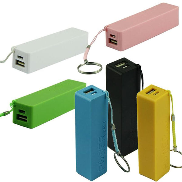 Portable Power Bank 18650 External Backup Battery Charger W/Key Chain