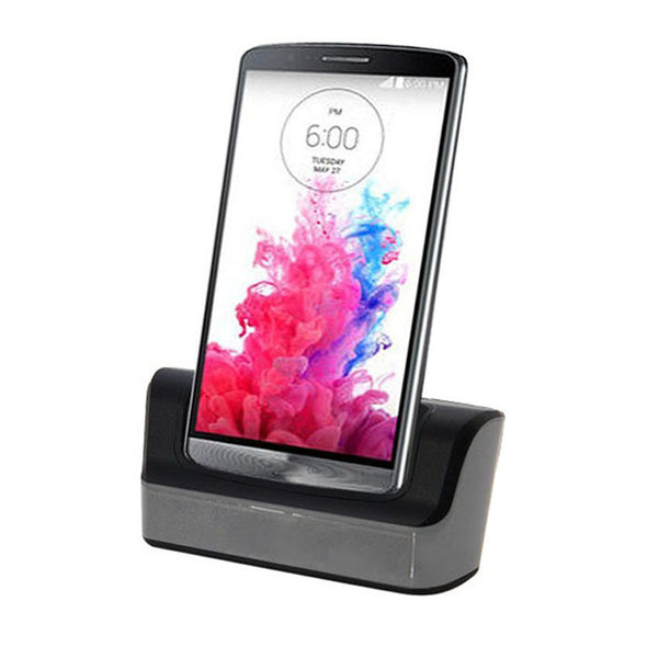 2016 Phone Accessories New High Quality Dual Desktop Dock USB Sync Charger Cradle  for LG G3 D855