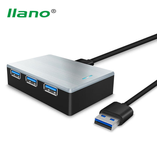 llano USB 3.0 HUB Super Speed External 4 Port USB Splitter With USB 3.0 Data Cable For Laptop Tablet Keyboard Mouse Charger Cabo