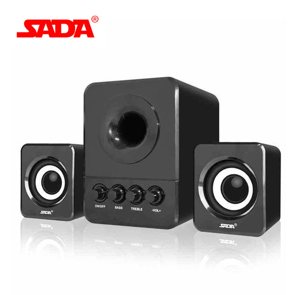 SADA  Wired Combination Speaker for Laptop Desktop Computer Mobile Phone Notebook USB2.1 Bass Cannon Speakers