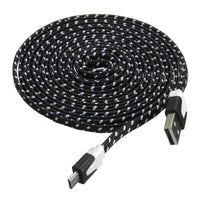 Adroit Sync Charger Data Cable 3M Fabric Braided Flat Cord