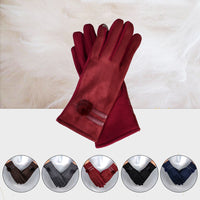 Free Size Women Gloves Winter Warm Soft Wrist Gloves Mittens Elegant Lady Sheepskin Gloves & Mittens luvas de inverno