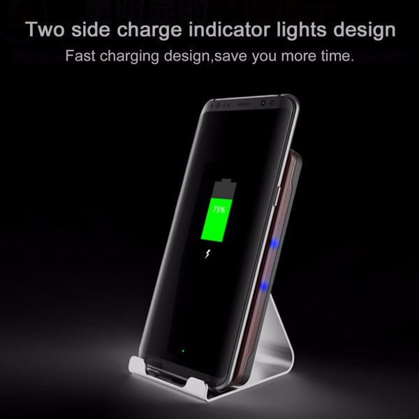 Wireless 9V 10.8W Fast Charging Mobile Phone Charger Built-In Cooling Fan Double Coil Cellphone Charger LP1