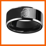 NEW DESIGN OHIO STATE COLLEGE TEAM BLACK BLUE 316L STAINLESS STEEL MEN RING JEWELRY