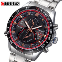 Full Stainless steel Quartz Watch Men luxury Man Wristwatch Relojes hombre Sports Military Analog Wristwatch gift New Curren