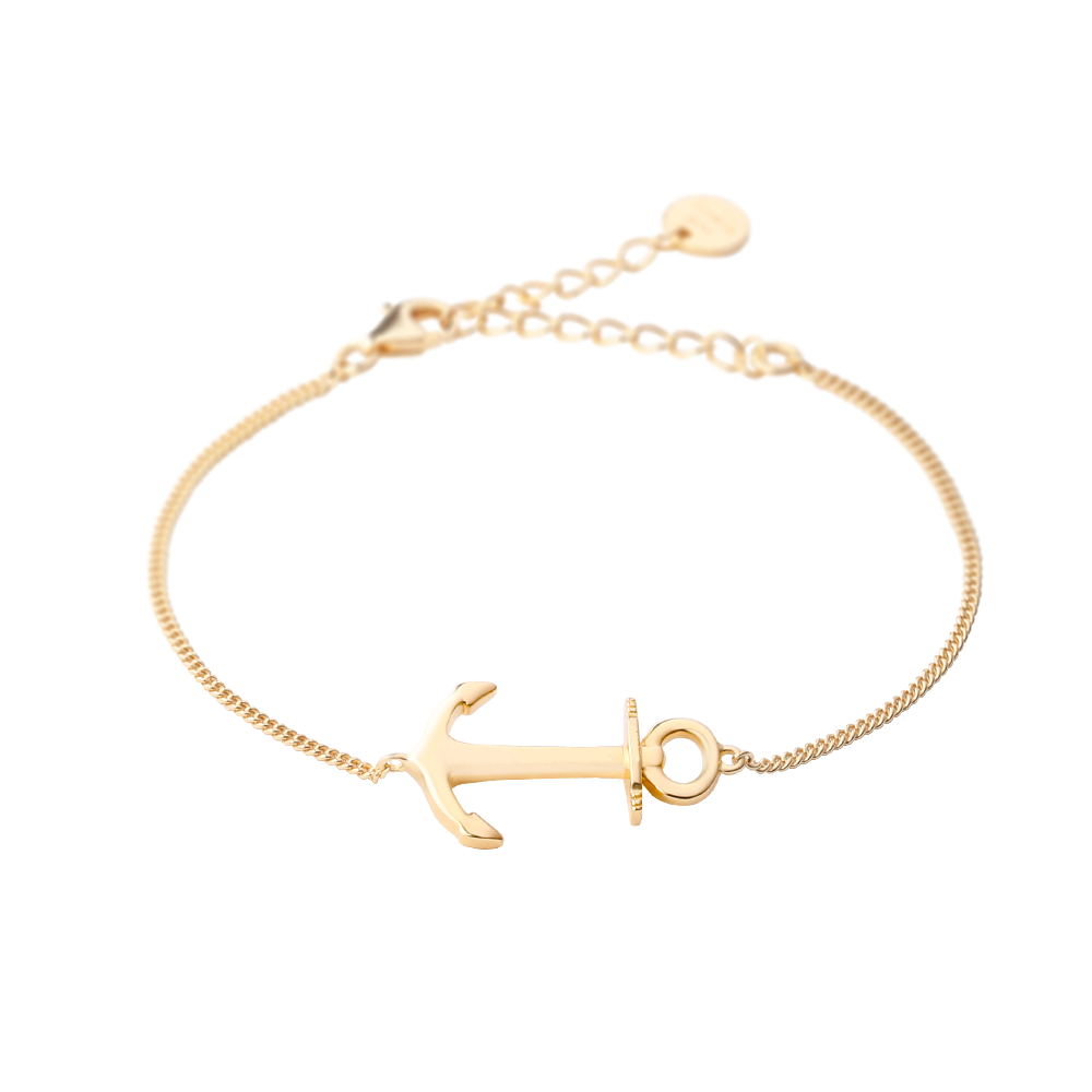 Seas The Day Gold Anchor Bracelet
