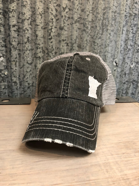 mn grey trucker hat