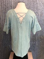 lattice back mint tee