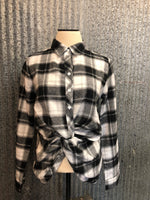 twist front flannel