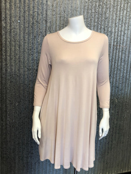 basic tan dress