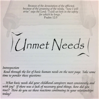 Unmet Needs - 201 School Lesson 14 (mp3) - Elijah House